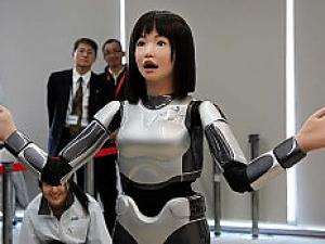 Model and Singer Humanoid Robot HRP-4C