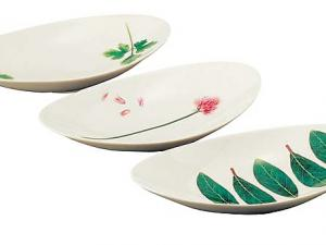 Japanese set of serving plate 3pcs chinaware