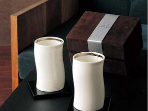 Japanese Pair Tumbler with coaster, chinaware