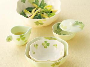 Set of Japanese China Clover Salad Bowls