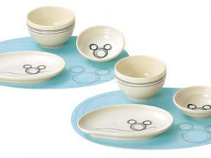 Kawaii! Pair China Mickey Kids Plate Set, disney