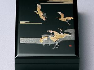 Japanese crane design stationary box