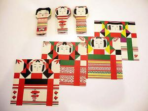 Japanese Pop Origami Unit - Kokeshi Origami and so on