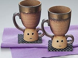 Kawaii! Japan HANIWA Design Pair Cups!
