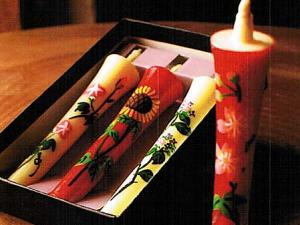 Japanese Handmade Candle Sticks Set sunflower