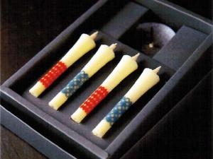 Japanese Candle Sticks & Stand Set samurai