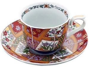 Japanese ARITA ware Coffee Cup Set, imari