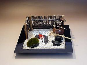 Japanese Traditional Scale Model Garden Set, chanoyu, Kyoto