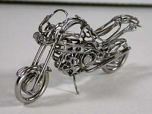 Japanese fine craft! Wire motor cycle, choker