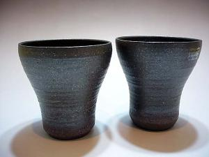 Japanese IGA ware Pottery Beer Cups