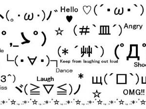 [Kaomoji(^_^) --- Japanese emoticons (^ 0 ^ )/]