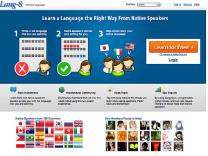 Lang-8 --- Multi-Lingual Language Exchange SNS