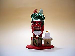 KAWAII! Japanese Lion Dance Ornament, mochi, new year