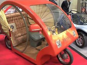 "Japanese Rickshaw-Like Electric Car ""Meguru"""
