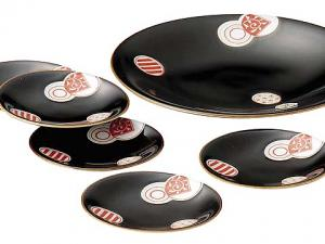 Japanese MINO ware Serving Plate Set