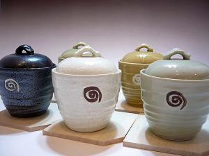 Japanese MINO ware Pottery Cup Set