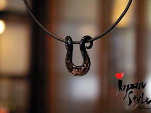 Japanese Iron Lacquer Pendant necklace sakura cherry