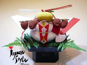 "Japanese New Year Decoration ""Kagami Mochi"" Set"