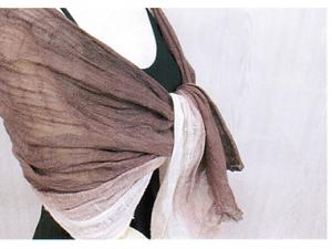 Organic Supima Purple Cotton Shawl, made in Japan
