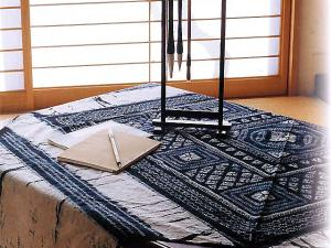 Japanese Traditional Style Tablecloth, Indigo Dyeing