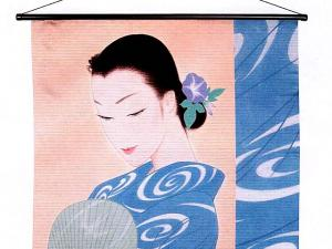 Japanese kimono womenTapestry, 
