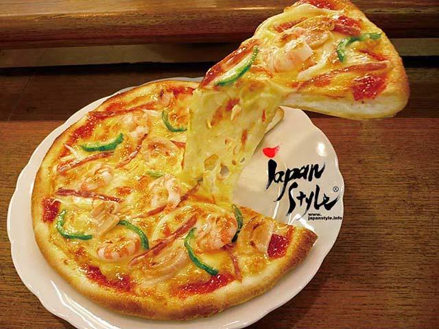 fake food sample mix pizza